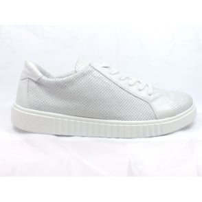 1023 Perugia Silver Grey Leather Lace-Up Casual Shoe