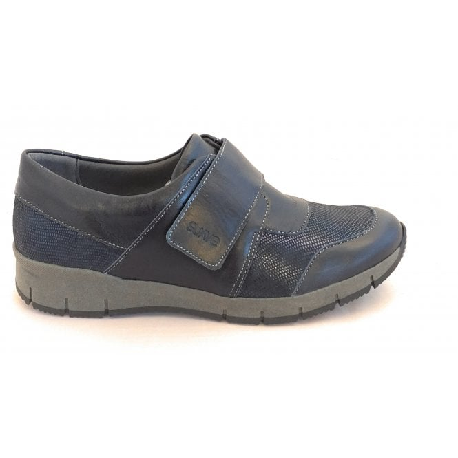 Suave 10508 Nancy Navy Leather Casual Shoes
