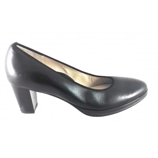 Ara 12-13436 Orly Black Nappa Leather Court Shoe