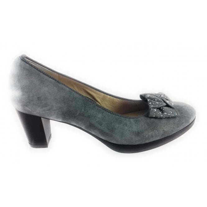 Ara 12-13438 Orly Grey Suede Court Shoe