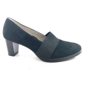 12-13483 Orly Black Suede Court Shoe