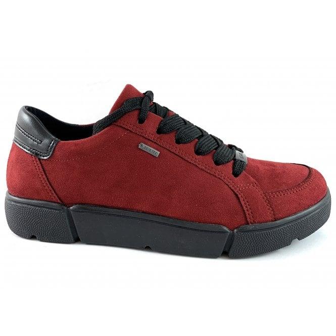 Ara 12-14433 Rom High Soft Red Gore-Tex Lace-Up Shoe