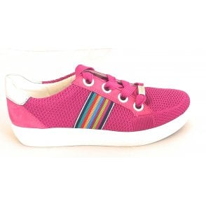 12-14512 New York Fusion 4 Bright Pink and Silver Trainer