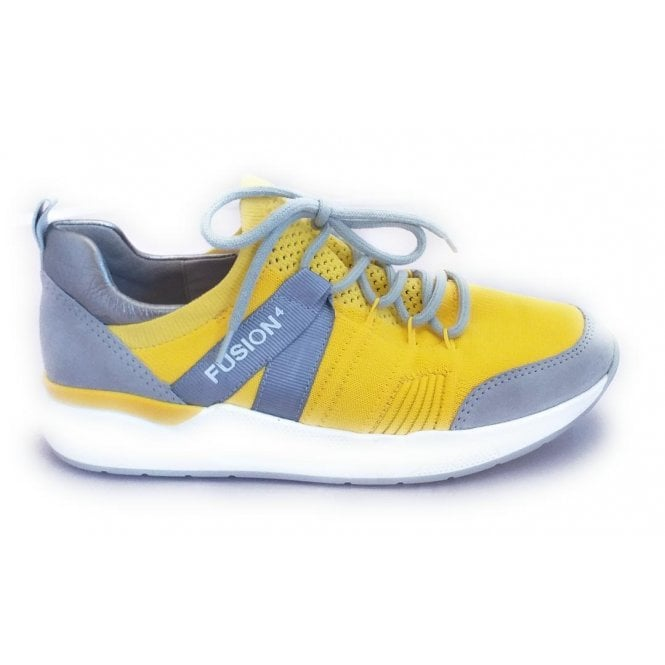 Ara 12-14681 L.A Fusion 4 Yellow and Grey Trainers