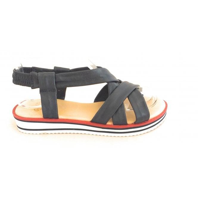 Ara 12-14726 Durban Navy Nappa Leather Strappy Sandal