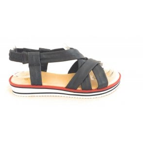12-14726 Durban Navy Nappa Leather Strappy Sandal