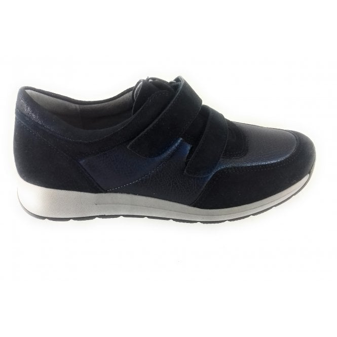 Ara 12-15016 Oslo Navy Leather and Suede Trainer