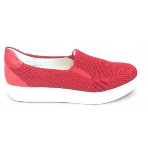 12-15409 Fusion New York Red Slip-On Casual Loafer