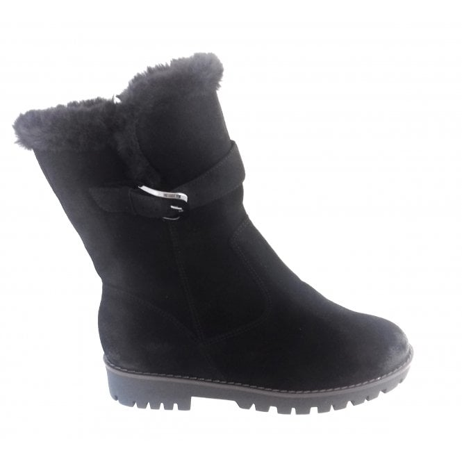 Ara 12-16224 Anchorage Black Suede Ankle Boot