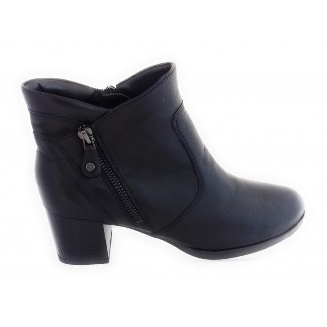 Ara 12-16934 Florenz Black Leather Ankle Boot