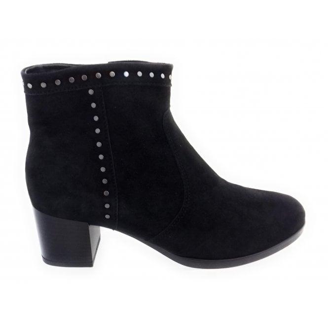 Ara 12-16944 Florenz Black Suede Ankle Boot