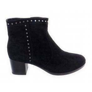 12-16944 Florenz Black Suede Ankle Boot
