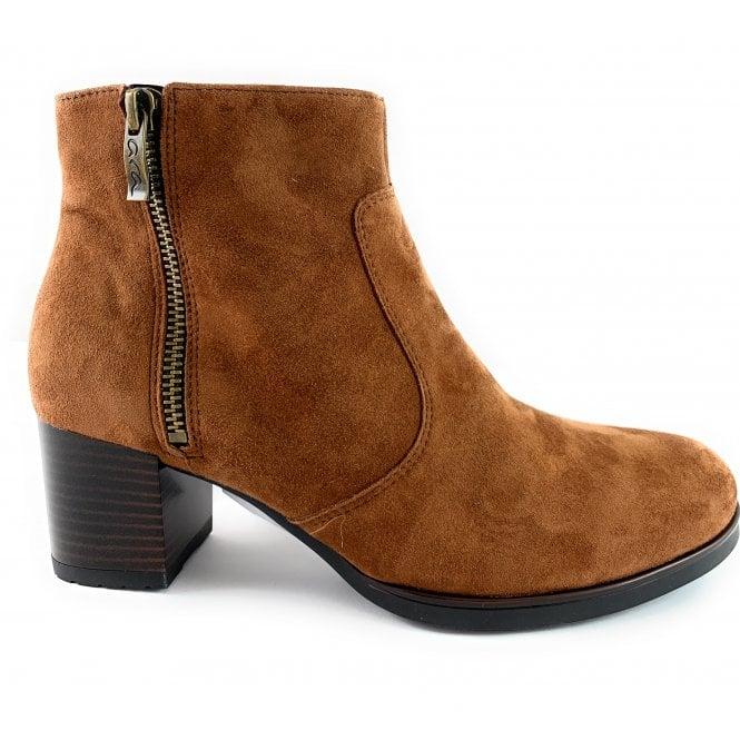 Ara 12-16968 Florenz HighSoft Tan Suede Ankle Boot