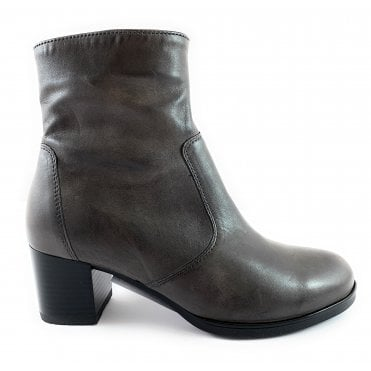 12-16972 Florenz Highsoft Grey Leather Ankle Boot