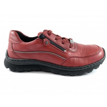 12-18522 Tampa Red Leather Lace-Up Casual Shoe