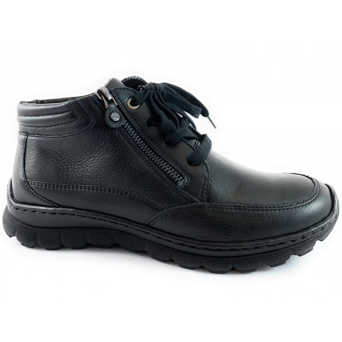 Ara 12-18524 Tampa Black Leather Casual Boot