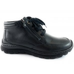 12-18524 Tampa Black Leather Casual Boot
