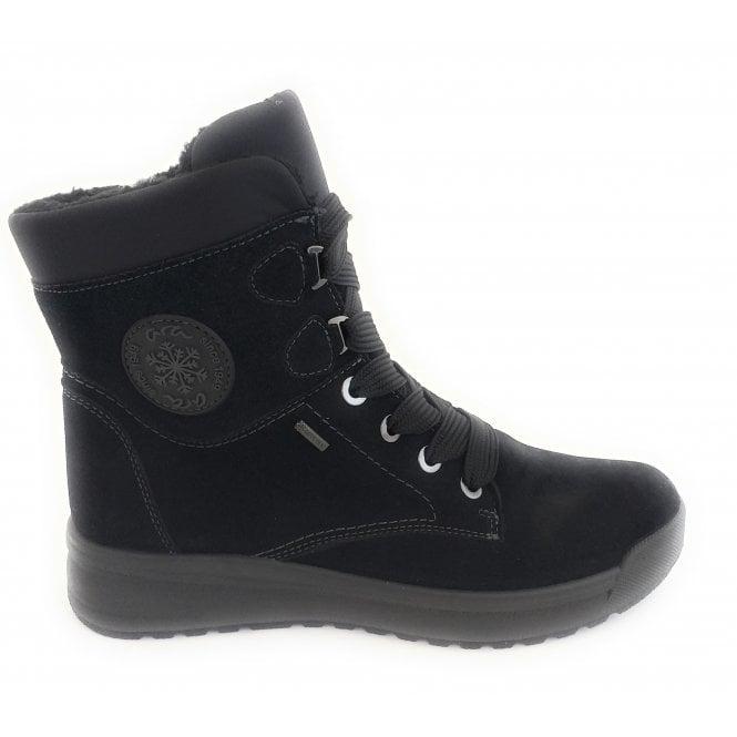 Ara 12-19743 Aspen Black Gore-Tex Lace-Up Boot