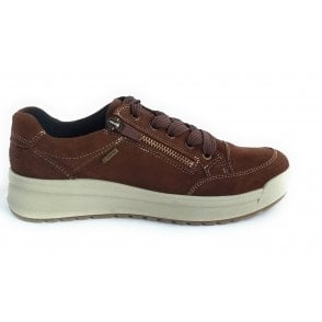 12-19775 Aspen Gore-Tex Brown Suede Lace-Up Shoe