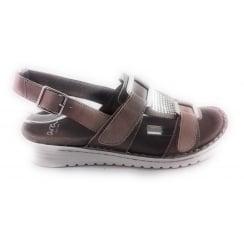 12-27265 Havanna Taupe Nubuck Sporty Sandal