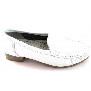 12-30137 Atlanta White Leather Moccasin