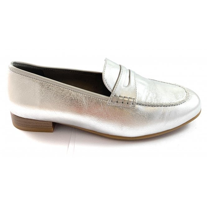 Ara 12-31215 Kent Silver Leather Loafer