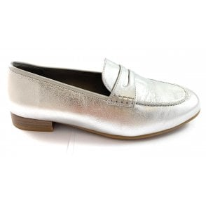 12-31215 Kent Silver Leather Loafer