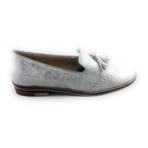 12-31252 Kent Silver Metallic Leather Loafer