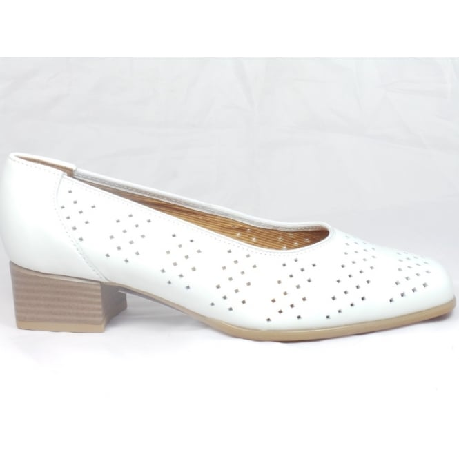 Ara 12-31810 Graz White Leather Court Shoe