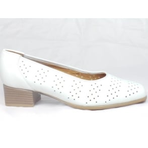 12-31810 Graz White Leather Court Shoe