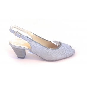 12-32076 Turin Grey Peep-Toe Sling-Back Shoe