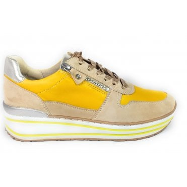 12-32461 Beige, Yellow and Gold Trainers