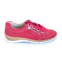 12-32630 Gil-Ang Red Nubuck Lace-Up Casual Shoe