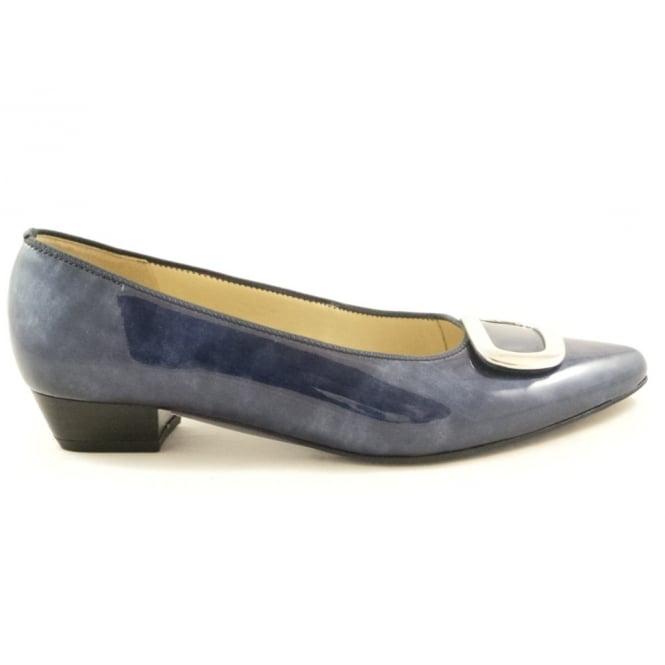 Ara 12-33062 Paris Navy Blue Patent Ballerina