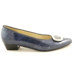 12-33062 Paris Navy Blue Patent Ballerina