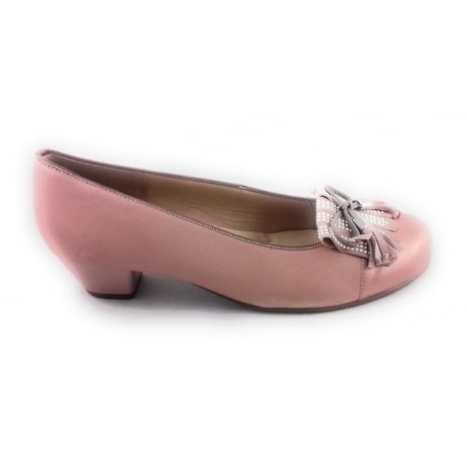 Ara 12-33614 Messina Nude Leather Ballerina Court Shoe