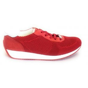 12-34027 Lissabon Fusion Red Trainers