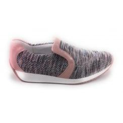 12-34044 Lissabon-St Fusion4 Pale Pink Multi Casual Shoe