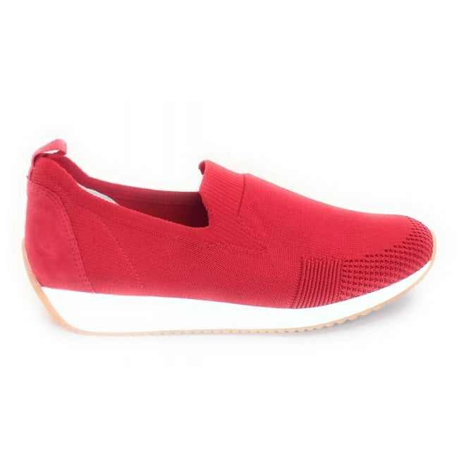Ara 12-34080 Lissabon Fusion Red Slip On Casual Shoe