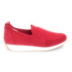 12-34080 Lissabon Fusion Red Slip On Casual Shoe
