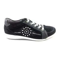 12-34418 Rom Navy and White Nubuck Lace-Up Casual Shoe