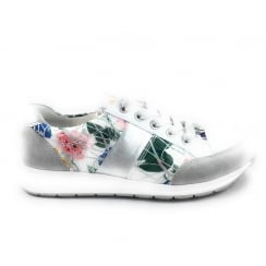 12-34553 Osaka White Print Lace-up Casual Shoe