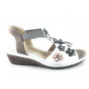 12-35319 Sirmione White Leather Open-Toe Sandal