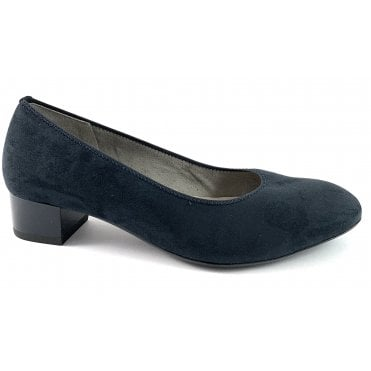 12-36801 Milano Navy Microfibre Court Shoe