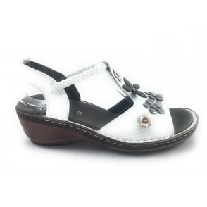 12-37256 Key-West White Leather Open-Toe Sandal
