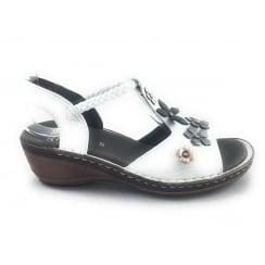12-37256 Key-West White Leather Open-Toe Sandal