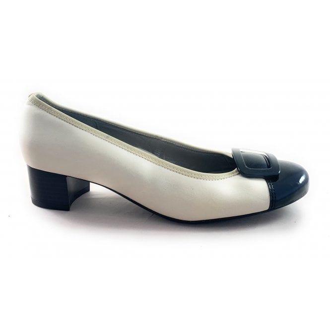 Ara 12-37876 Orly Beige and Black Leather Court Shoe
