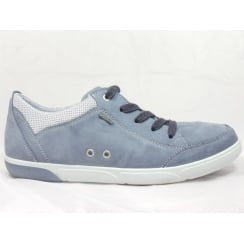 12-39636 Sanibel Denim Blue Leather Gore-Tex Casual Lace-Up Shoe