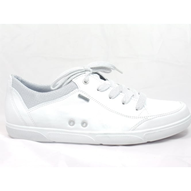 Ara 12-39636 Sanibel White Leather Gore-Tex Casual Lace-Up Shoe