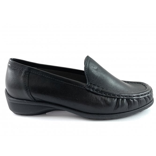 Ara 12-40101 Atlanta Black Leather Loafer
